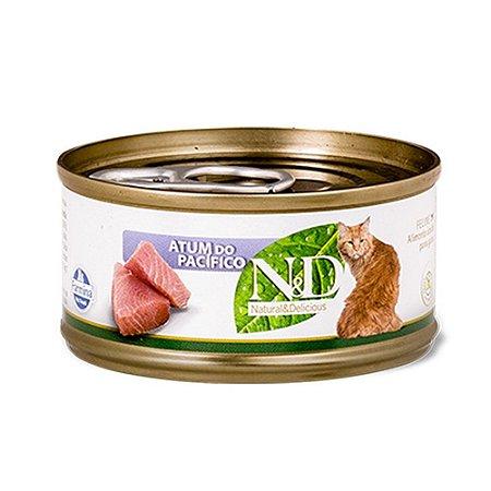 N&D para Gatos sabor Atum do Pacífico 70g
