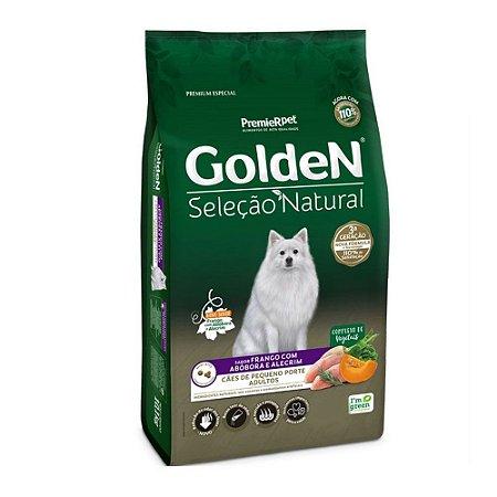 Golden Seleção Natural para Cães Adultos Pequenos sabor Frango com Abobora e Alecrim 3kg