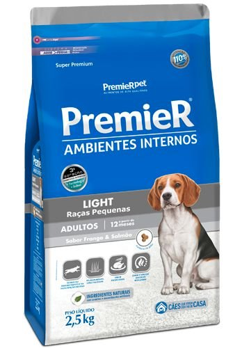 Ração para Cães Premier Ambimentes Intesrnos Adulto Light 2,5kg