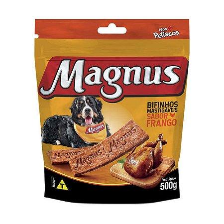 Magnus Bifinho Mastigável para Cães Adultos sabor Frango 500g