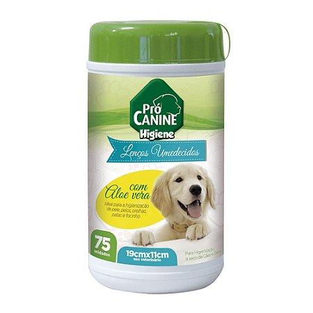 Pró Canine Lenços Umedecidos para Filhotes 75un
