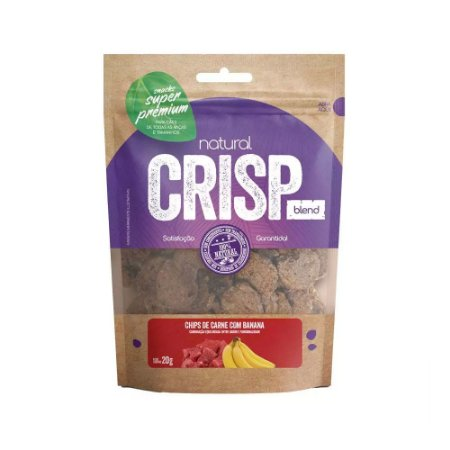 Natural Crisp Blend para Cães sabor Chips de Carne com Banana 20g