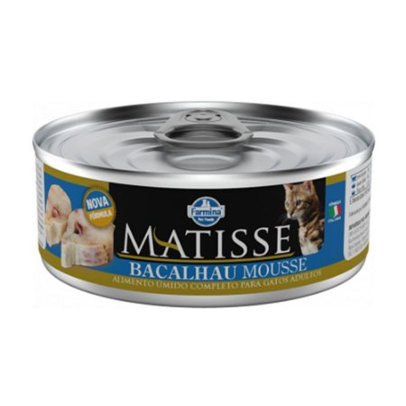 Matisse Mousse para Gatos Adultos sabor Bacalhau 85g