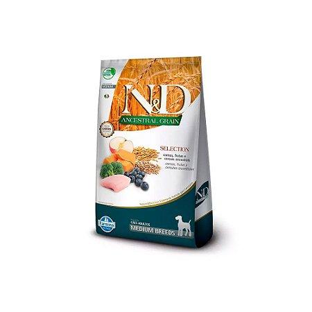 N&D Ancestral Selection Medium Breeds para Cães Adultos sabor Carne, Frutas e Cereais 15kg