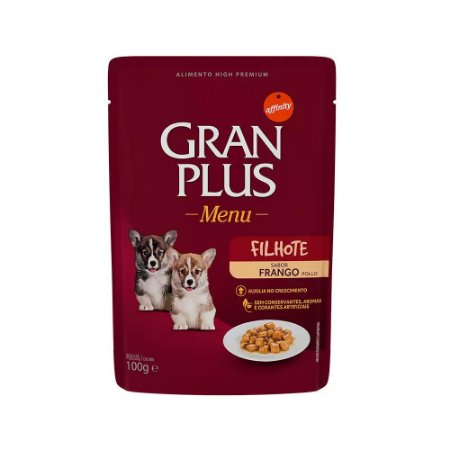 Gran Plus Sachê para Cães Filhotes sabor Frango 100g