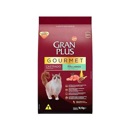 Gran Plus Gourmet para Gatos Adultos Castrados sabor Peru e Arroz 10,1kg