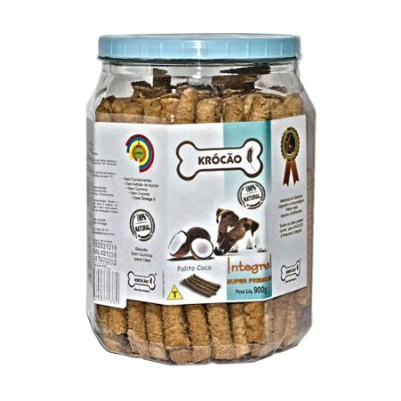Krocão Biscoito Integral Palito sabor Coco 900g