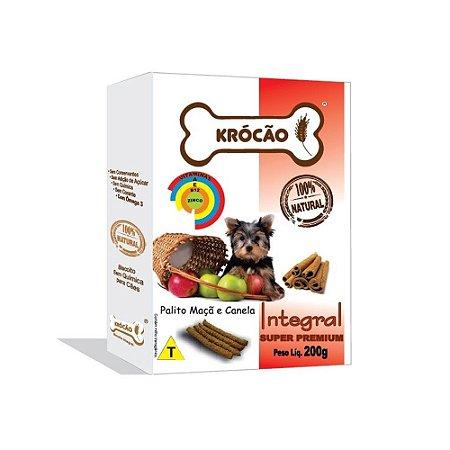 Krocão Biscoito Integral Palito sabor Maçã e Canela 200g