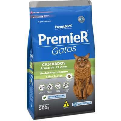 Ração para Gatos Premier Castrados Acima 12 anos 1,5kg