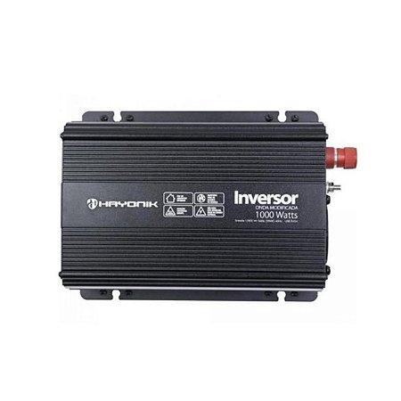 INVERSOR ONDA MODIFICADA 1000W - 12V/127V - HAYONIK