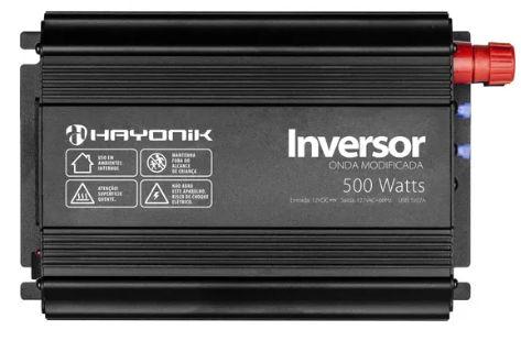 INVERSOR ONDA MODIFICADA 500W - 12V / 127V - HAYONIK
