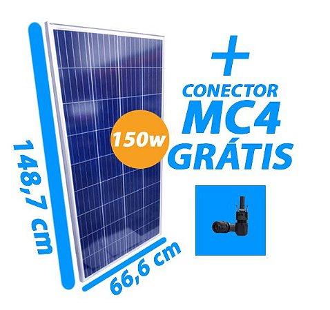 Placa Solar 150W - RS6E-150 - Resun Solar - Com conector MC4