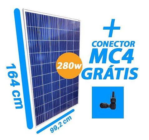 Placa Solar 280W - RS6C-280P - Resun - Com conector MC4