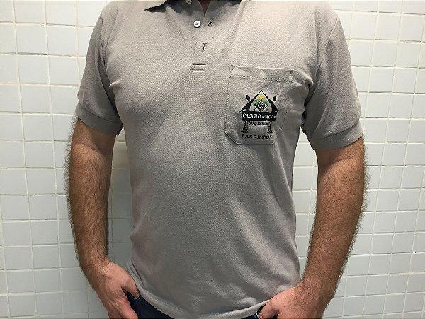 Camisa Polo Piquet Cinza