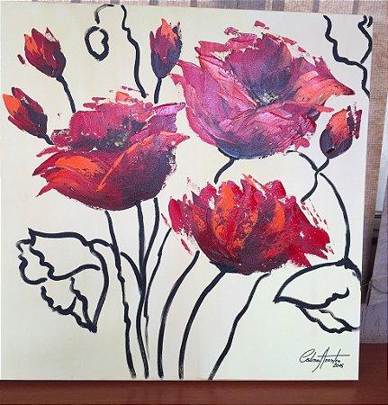 Quadro Flores Celina Arantes