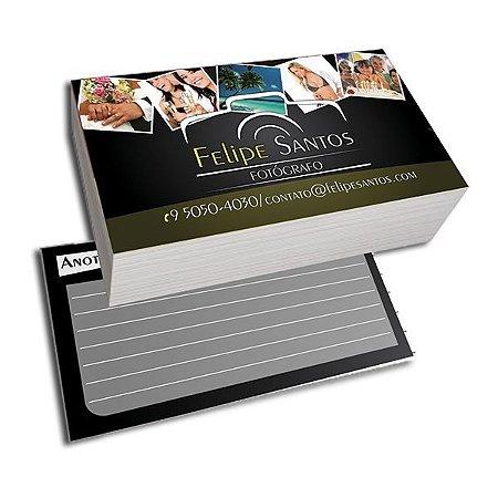 Cartão de Visita 1000und - 4X1 - 250gr