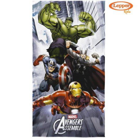 Toalha de Banho Aveludada Avengers - Lepper
