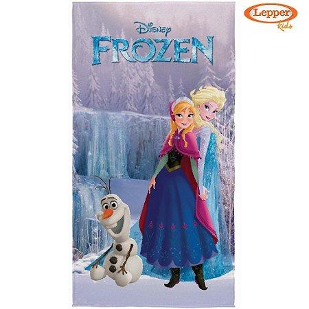 Toalha de Banho Aveludada Disney Frozen - Lepper