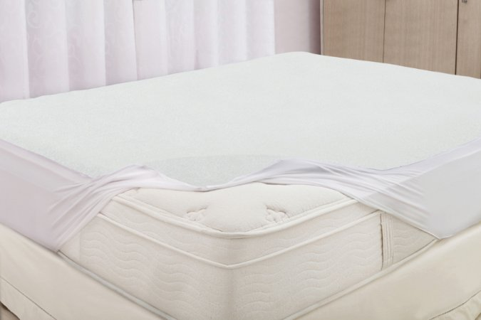 Protetor de Colchão Impermeável Felpudo Casal Realce Premium - Sultan