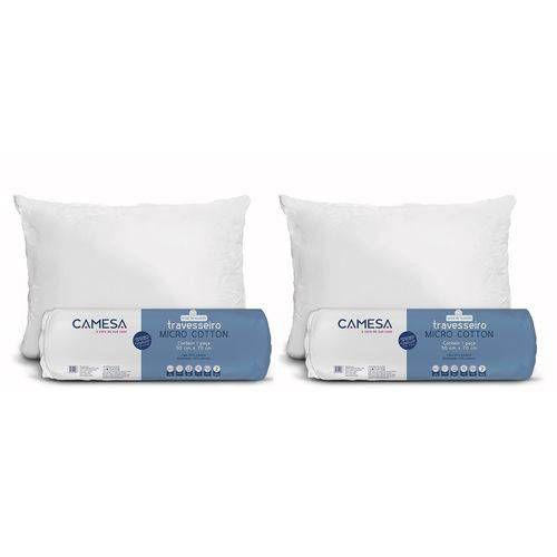 Kit com 2 Travesseiros Micro Cotton 50cm x 70cm - Camesa