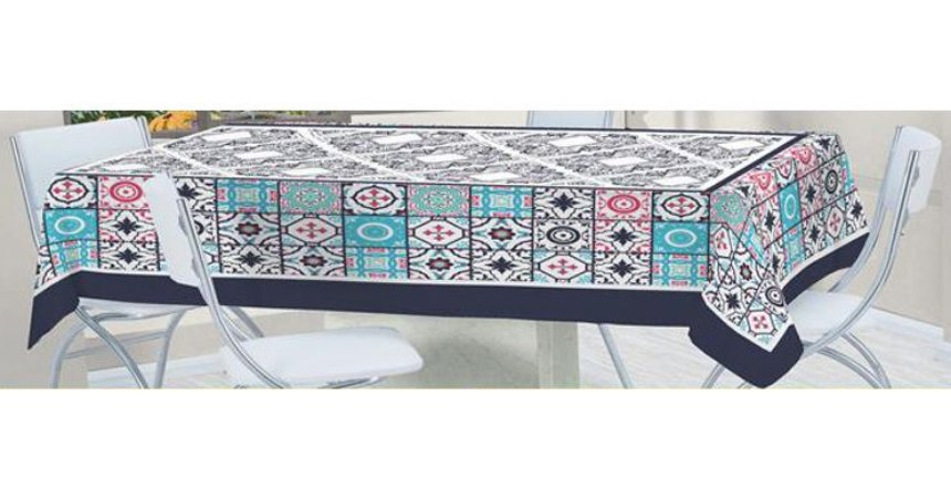 Toalha de Mesa Bella Quadrada 1,40x1,40m Mosaico - LUCAT