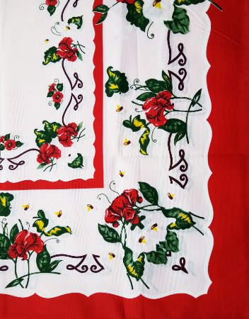 Toalha de Mesa Bella Retangular 2,10x1,40m Flower II - LUCAT