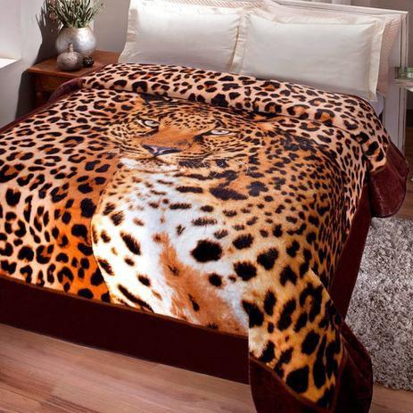 Cobertor Jolitex Kyor Casal 1,80x2,20m - Leopardo