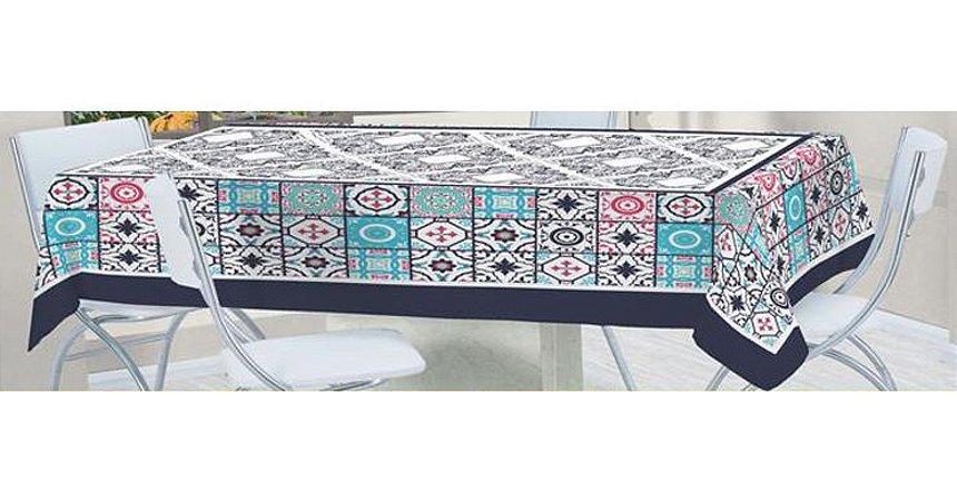 Toalha de Mesa Bella Retangular 2,10x1,40m Mosaico - LUCAT