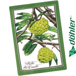 Pano de Copa Felpudo Dohler Tecilar Frutas Tropicais Cor Verde 45x63cm