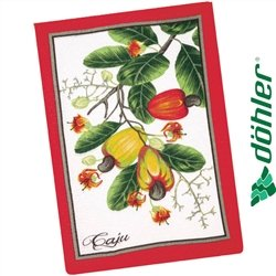 Pano de Copa Felpudo Dohler Tecilar Frutas Tropicais Cor Vermelho 45x63cm