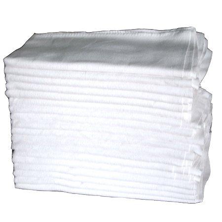 Pano de prato com Bainha Branco liso Engomatextil 100% Algodão 40x65cm