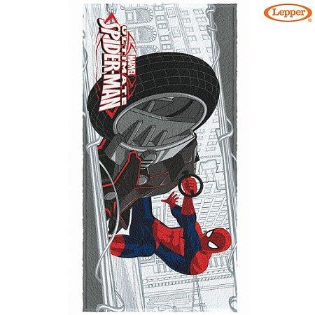 Toalha Felpuda de Banho Spider Man 1 - 60X120cm - Lepper
