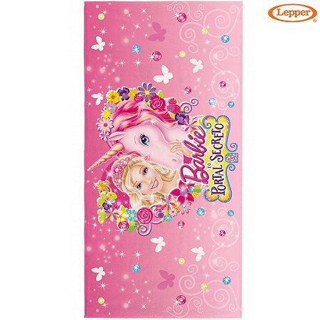 Toalha Felpuda de Banho Barbie e o Portal Secreto Estampa 4 - 60X120cm - Lepper
