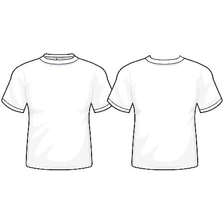 Camiseta Branca Promocional Fio 30/1 100% Algodão Tamanho P