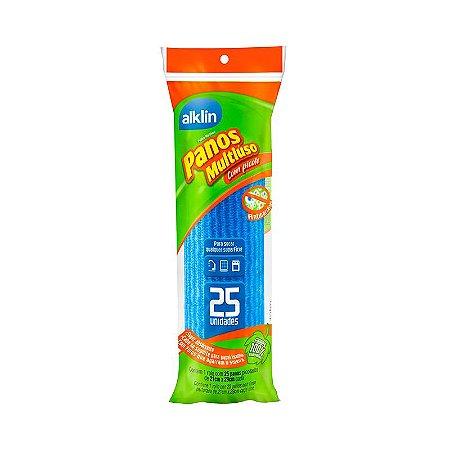 Rolo de Pano Perfex Alklin Limpeza Leve com 25 panos Picotados Cor Azul