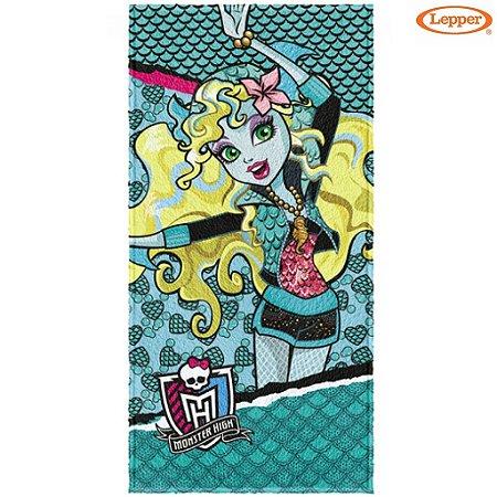 Toalha Felpuda de Banho Monster High 60X120cm - Lepper