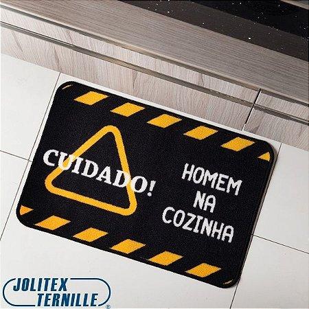 Tapete Avulso Multiuso Homem na Cozinha 40x60cm - Jolitex