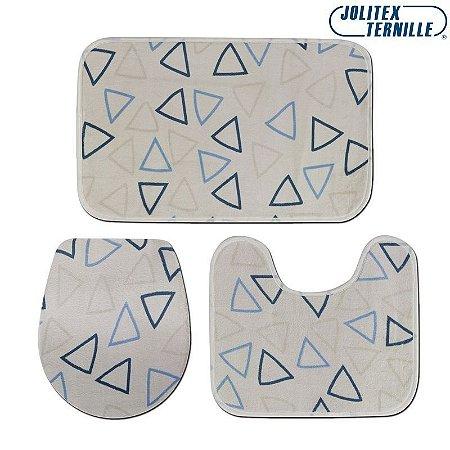 Jogo de Banheiro Microfibra Fascínio 03 Peças - Jolitex