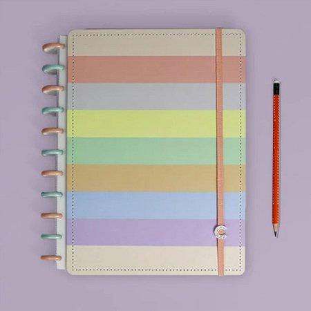 Caderno Inteligente Arco-Íris Pastel G+