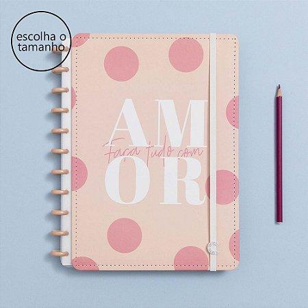 Caderno Inteligente Amor Cor de Rosa A5 - By Uatt