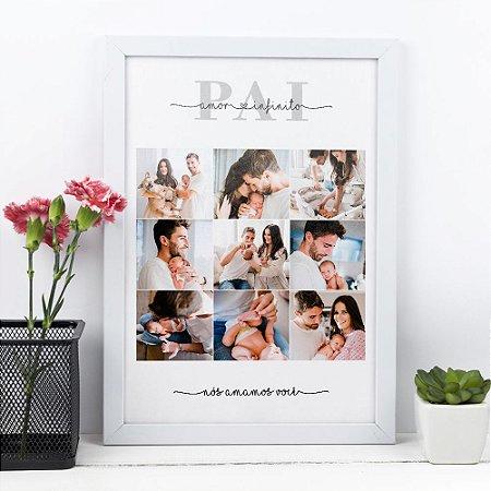 Quadro Pai Amor Infinito 20x30cm