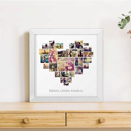 Quadro 29 Fotos Frames - Coração