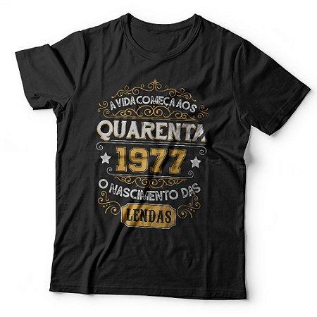 Camiseta a Vida Começa aos Quarenta