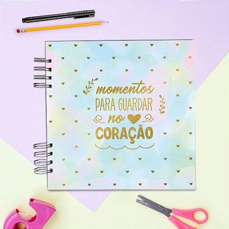 ÁLBUM DE RECORDAÇÕES SCRAPBOOK - MOMENTOS PARA GUARDAR