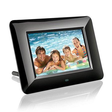 Porta Retrato Digital Multilaser Image Black - P3109