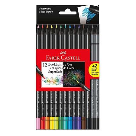 Lápis de Cor Supersoft Faber Castell 12 Cores