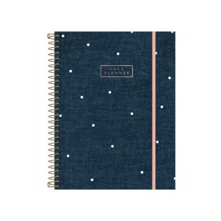 PLANNER ESPIRAL CAMBRIDGE DENIM TILIBRA