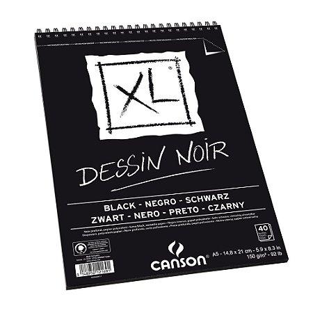 Bloco XL Dessin Noir Black A5 150g Canson
