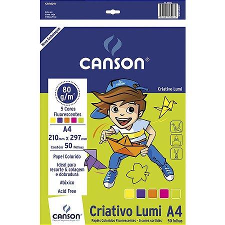 Bloco Criativo Lumi A4 5 Cores Florescente - Canson