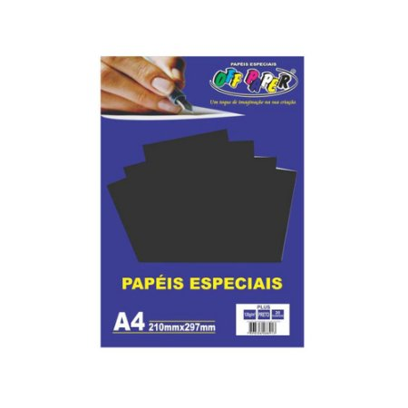 PAPEL ESPECIAL PLUS PRETO 120g PACOTE COM 20 FOLHAS – OFF PAPER